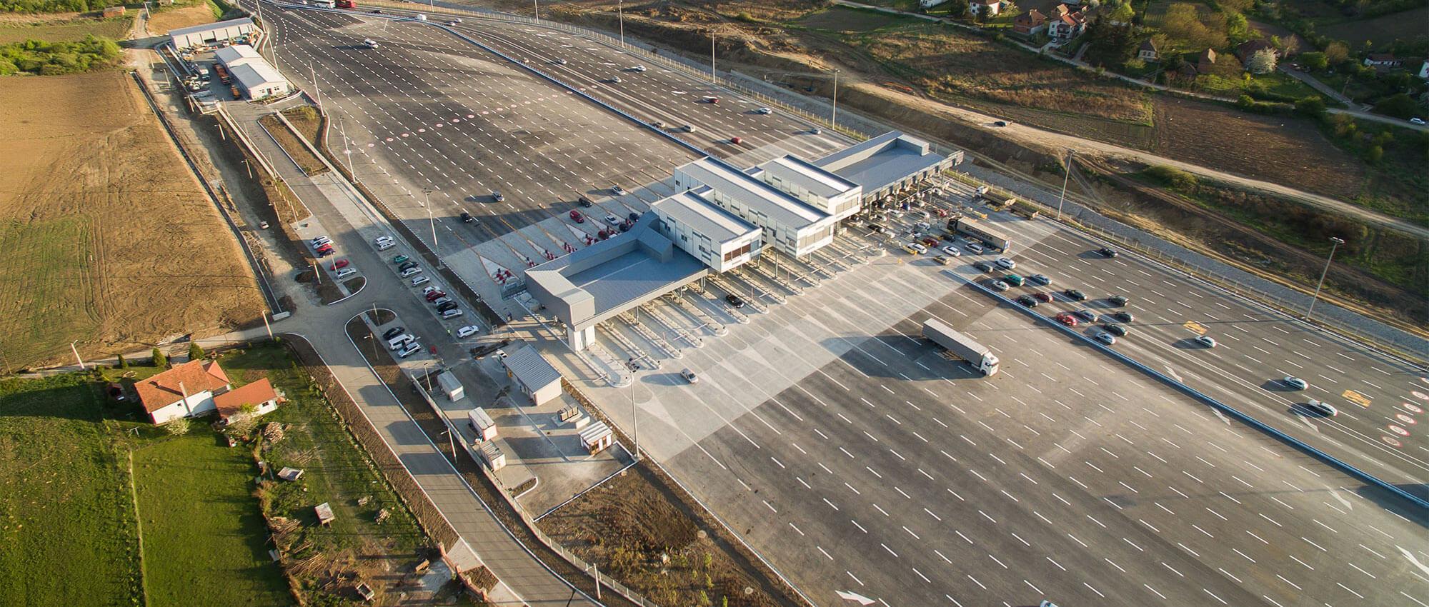 Kompleks čeone naplatne stanice na autoputu E-75, KO Vrčin, Grocka, Beograd - Projektovanje i nadzor
