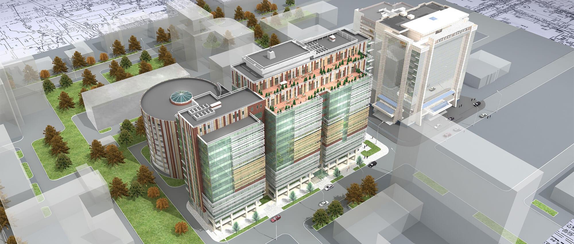 Poslovni kompleks u Krasnodaru, Rusija - Projektovanje
